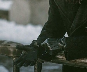 black, gloves, and winter image