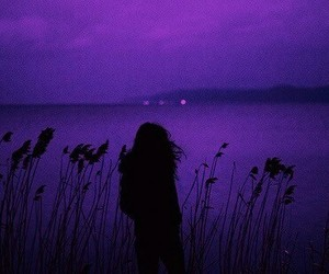 alone, girl, and purple image