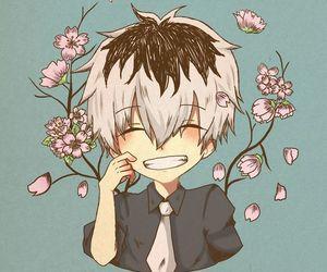 fanart, kaneki, and flower image