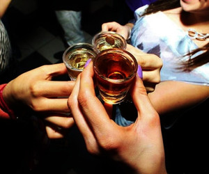drink, fingers, and girls image