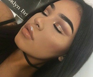 browns, glow, and lips image