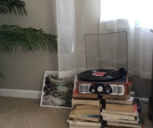 aesthetic, books, and music image