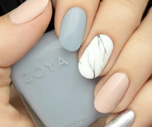 marble, matte, and nail art image