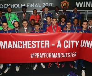 football, manchester united, and campeones image