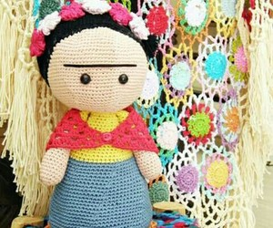 crochet, frida kahlo, and muneca image