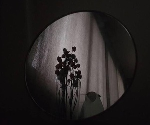 dark, aesthetic, and flowers image