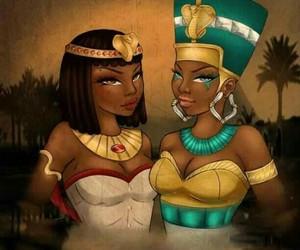 beautiful, cleopatra, and egypt image