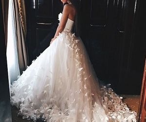 bride, wedding cake, and romance image