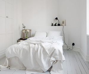 bed, home, and bedding image