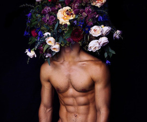 body and flowers image