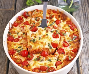 basil, casserole, and cheese image