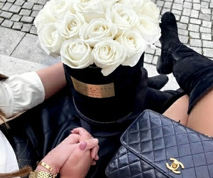 accessories, flowers, and glam image