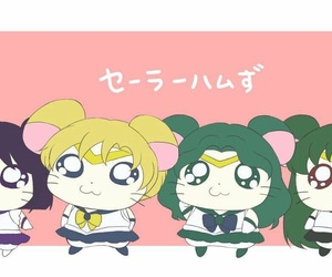 anime, hamtaro, and sailor mercury image