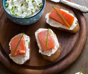 cheese, smoked salmon, and goat image