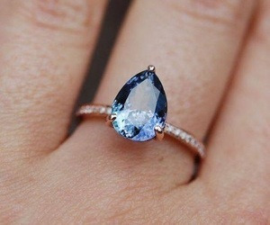 ring, blue, and accessories image