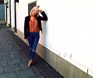 ankleboots, blonde, and fashion image