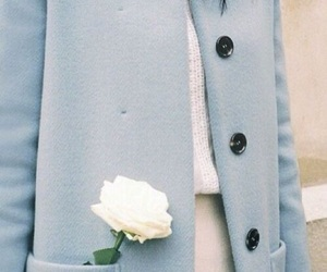 blue, aesthetic, and coat image