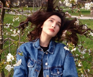 beauty, daisy, and denim image