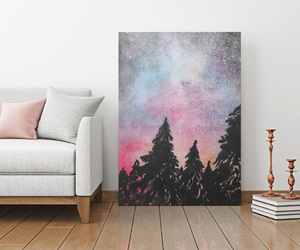 canvas, colors, and forest image