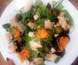food, salad, and carb image