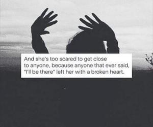 broken, heart, and left image