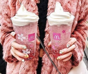 pink, drink, and food image