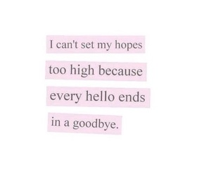 quote, hope, and goodbye image