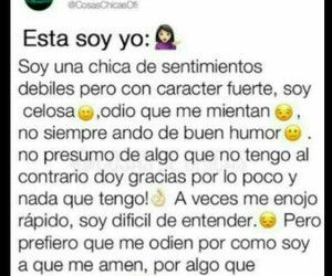chicas, frases, and yo soy asi image