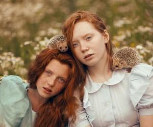 girl, nature, and animal image