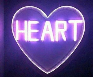 heart, purple, and my mind image