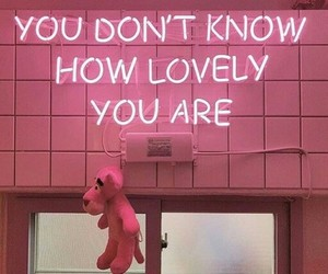 pink, you are so lovely, and love image