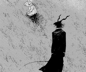 art, black and white, and manga image
