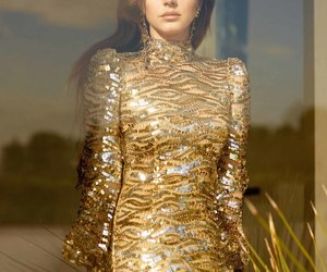 gold and lana del rey image