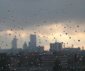 rain, city, and tumblr image