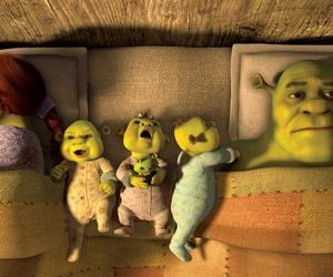shrek, baby, and family image