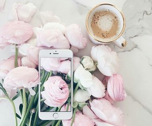 coffee, perfect, and flowers image