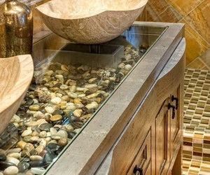 bathroom, romantic, and stone image