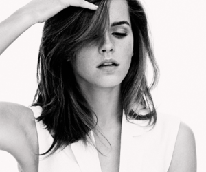 actress, b&w, and emma watson image