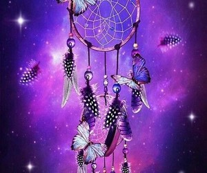 butterfly, dreamcatcher, and Dream image