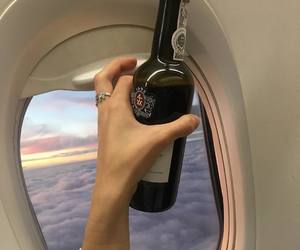 wine, aesthetic, and plane image