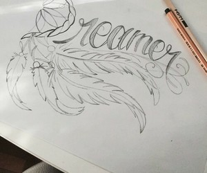draw, dreamer, and Paper image