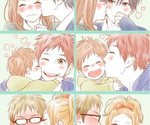 orange, kiss, and love image