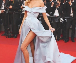elsa hosk, dress, and red carpet image