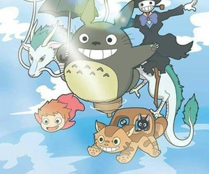 Ponyo, studio ghibli, and totoro image