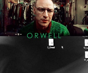 james mcavoy, movie, and orwell image