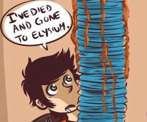 books, percy jackson, and blue food image