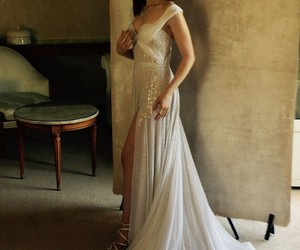 lily collins, dress, and beautiful image