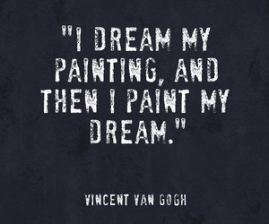 Dream, painting, and van gogh image
