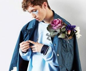 troye sivan, blue, and boy image