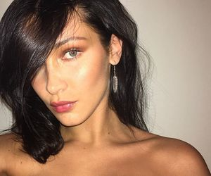 brunette, model, and bella hadid image